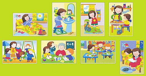 картинка для детского сада части суток